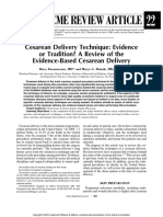 Cesarean Delivery Technique Evidence or Tradition a Review of the Evidence-based Delivery