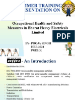 OHSAS in BHEL