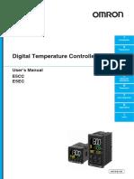 Programación de Control de Temperatura OMRON, Modelo E5CC-E5EC