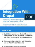 CiviCRM Integration With Drupal
