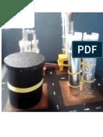 maqueta de una  planta refinadora d pretroleo