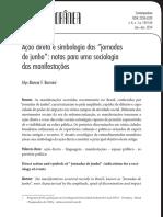 Ação direta e simbologia das jornadas de junho - uma sociologia das manifestações - Irles Barreira.pdf