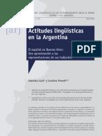 Actitudes lingüísticas en la Argentina