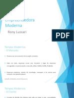 Estratratégia Empreendedora Moderna - Rony Lussari