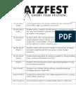 chatsfest timeline