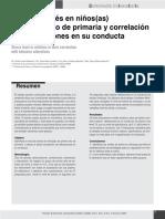 NIVEL DE ESTRES EN NIÑOS DE PRIMER AÑO DE PRIMARIA Y CORRELACION CON ALTERACIONES EN SU CONDUCTA.pdf