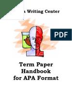 Apa Handbook 2009