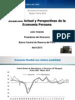 Proyecciones de La Economia Peruana Al 2013 Bcr Velarde