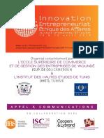 Yaoundé 2014 Innovation Entrepreneuriat Éthique Des Affaires