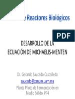 Desarrollo de la Ecuación de Michaelis - Menten