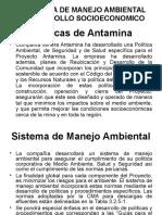 Politica de Manejo Ambiental y Desarrollo Socioeconomico