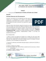 Taller Unidad 2 Documentación Requerida Para El Sistema de Gestión de La Calidad (1)