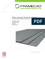 FRAMECAD Fibre Cement Technical Guide