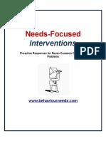 7 Most Common Behaviour Prob Intervention