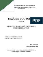 Migratia Iregulara la nivelul UE