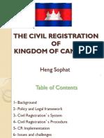 05-Civil Registration of Kingdom of Cambodia
