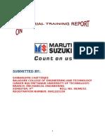 Maruti Suzuki Project