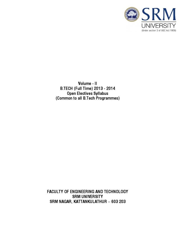 Open Electives 2013-14 | Boundary Layer | Bioinformatics