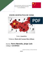 Visión Geopolitica de China