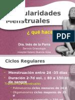Irregularidades menstruales