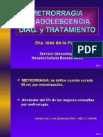 Metrorragia en la adolescencia