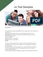 YPP Written Test Samples