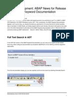 Abap News for Release 750 Abap Keyword Documentation