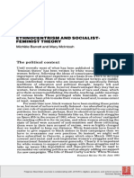 Ethnocentrism and Socialist-Feminist Theory