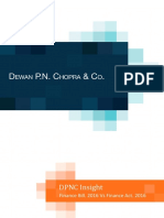 DPNC Insight Finance Bill vs Finance Act