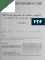 Distribuição Do Campo de Indução Magnética No Motor Linear de Indução