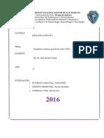 Ultimo Informe de Analisis Clinico