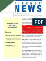 Pipenet News September 2006