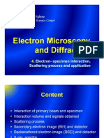 4. Electron-Sample Interaction, Scattering Process - Electron Microscopy and Diffraction