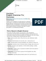 Cheat Sheet Grammar Http Www.dummies