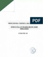 Procedura Tehnica de Executie Pe Timp Friguros