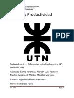 Informe Similutudes y Diferencias Entre Iso9001 Pnc y Ppc