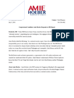 Hoeber Statement on Clinton Emails - July 5th