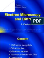 8. Electron Diffraction - Electron Microscopy and Diffraction