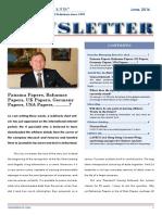 LAVECO Newsletter June, 2016 - Panama Papers, Bahamas Papers, UK Papers, Germany Papers, USA Papers, .....?