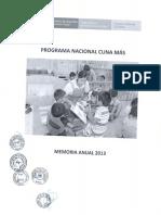 Memoria Anual 2013-PNCM