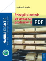 Curs ID-Principii Si Metode de Conservare a Produselor Alimentare, Anul IV Sem II