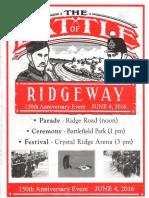 Fenian Raid June 1866 Battle of Ridgeway 150th Program June 4 2016