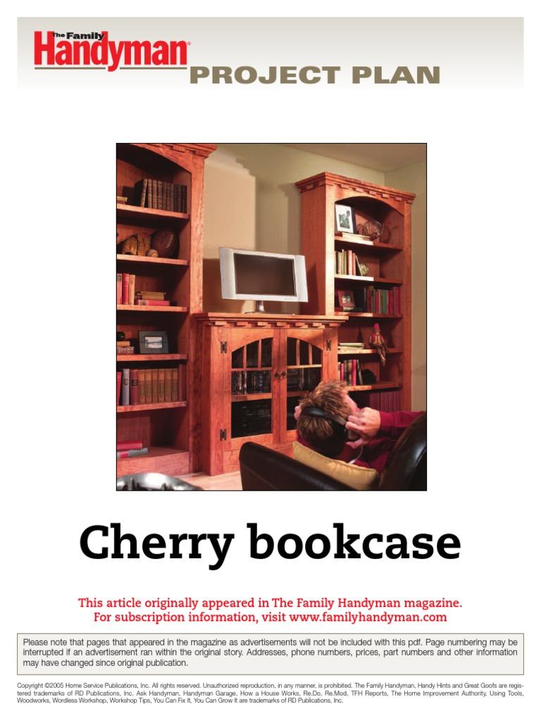 Cherry Bookcase Fh04dj Pdf Framing Construction