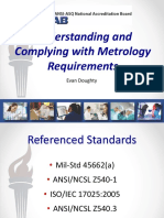Understanding and Complying With Metrology Requirements