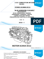 Motor Scania Dc 11 - Sistema de Admision y Escape