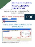 09421 Plano Acotado Agujeros Avellanados