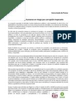 Comunicado de Prensa - El Costo Social de La Corrupcion Gt 06-2015