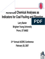 Advanced Chemical Analyses as Indicators for Coal Fouling and Slagging
