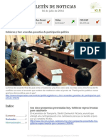 Boletín de noticias KLR 06JUL2016