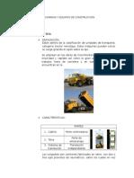 Maquinarias y Equipos de Construccion